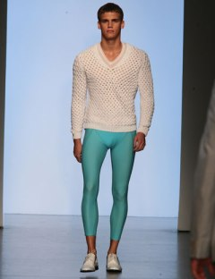man in leggings