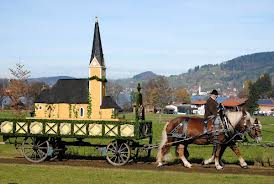 bavarian church on a cart